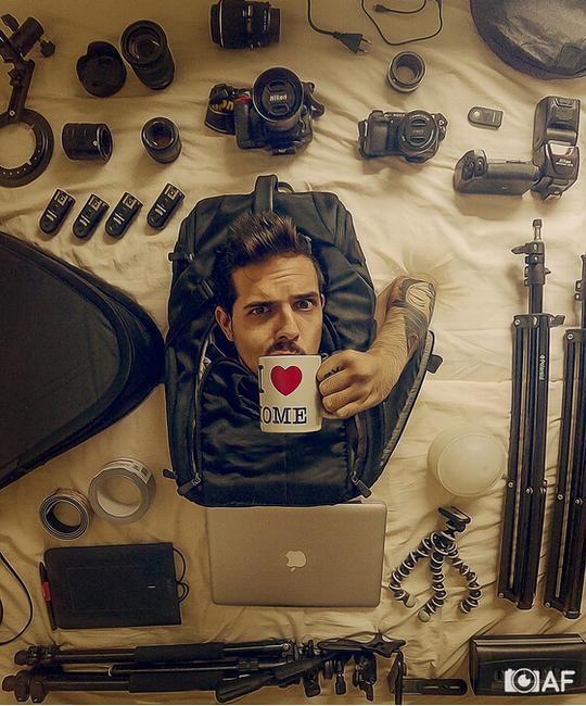 使用大摄影包携带