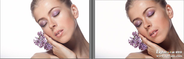 接着是祛斑操作,本图模特脸上的斑点较少,我们还是使用污点去除工具
