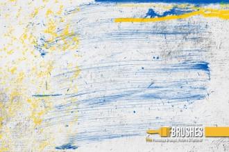 油漆刷子涂抹痕迹PS笔刷下载